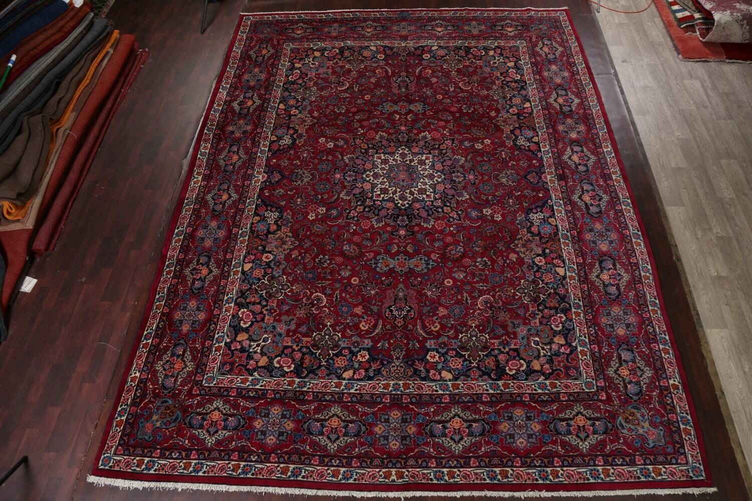 Antique Vegetable Dye Mood Persian Red Rug 11x15 image 16