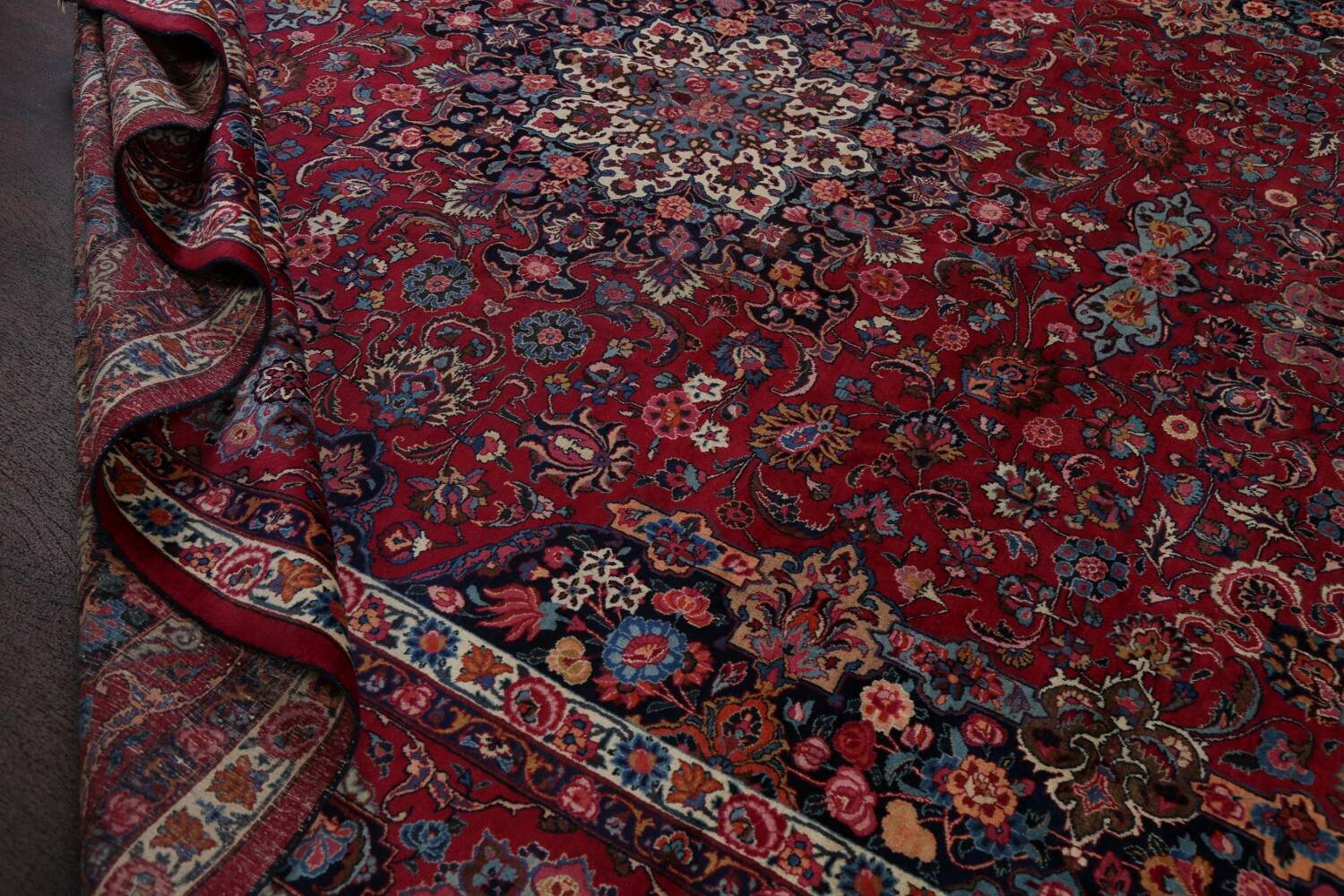 Antique Vegetable Dye Mood Persian Red Rug 11x15 image 18