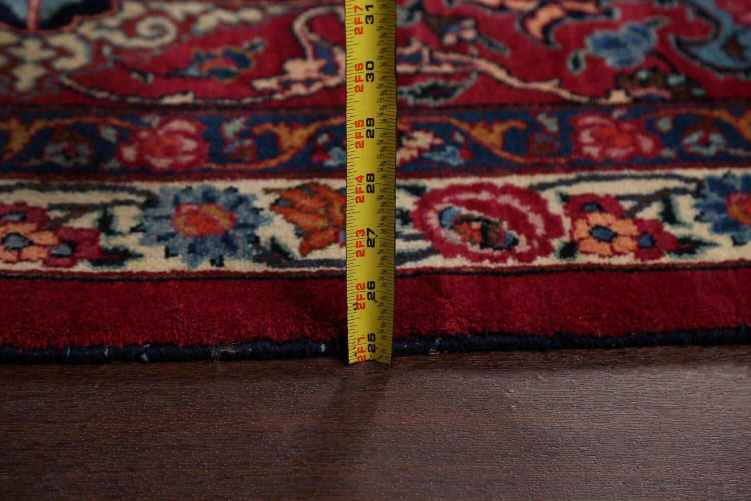 Antique Vegetable Dye Mood Persian Red Rug 11x15 image 20