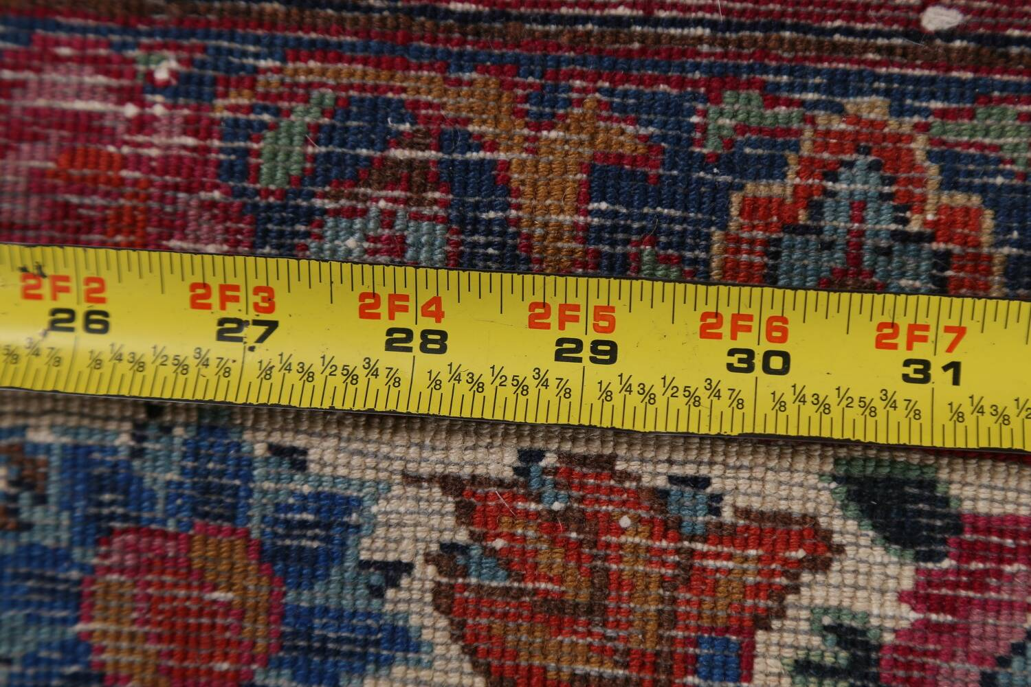 Antique Vegetable Dye Mood Persian Red Rug 11x15 image 21