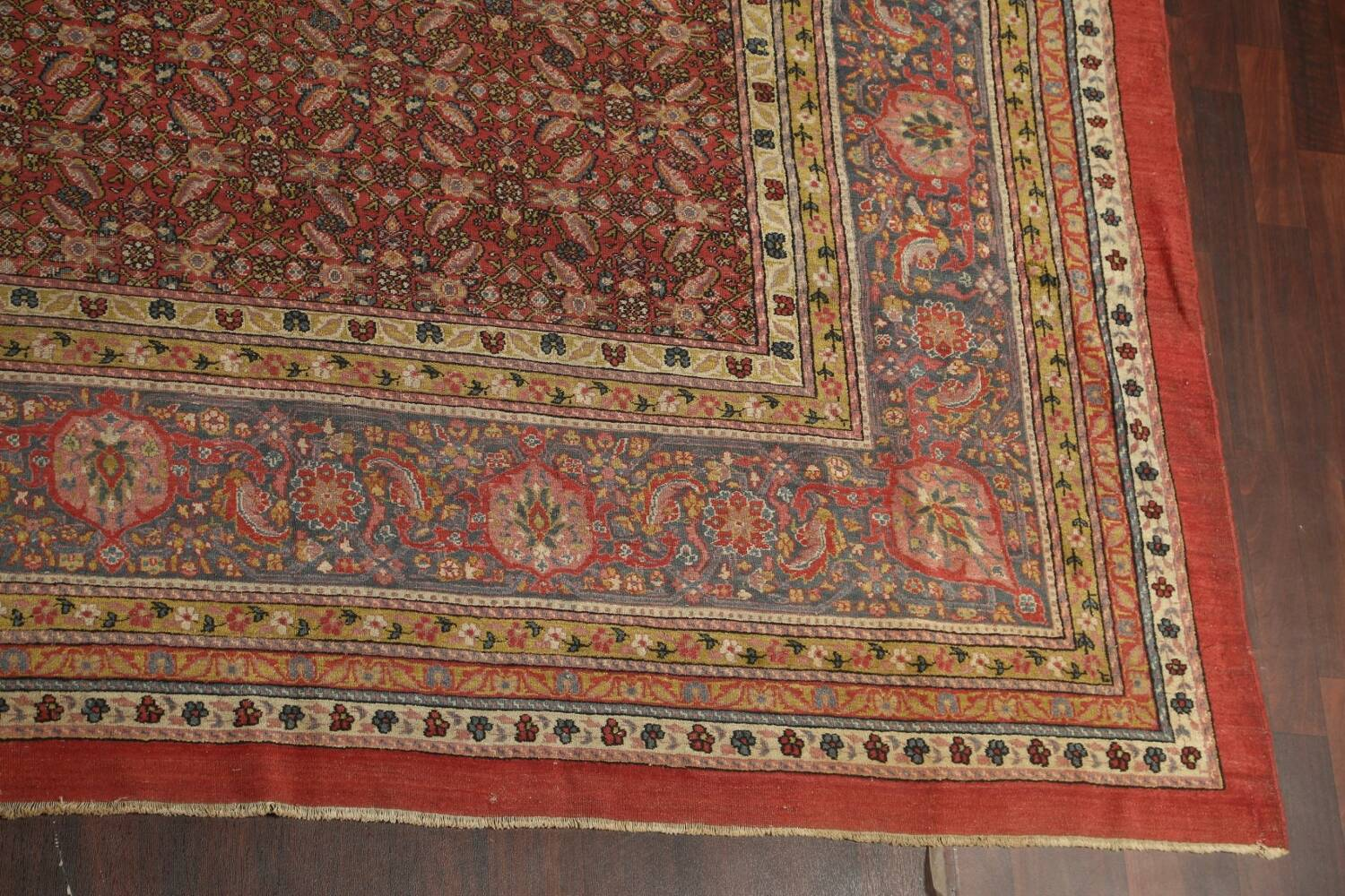 Antique Vegetable Dye Sultanabad Persian Rug 13x20 image 6