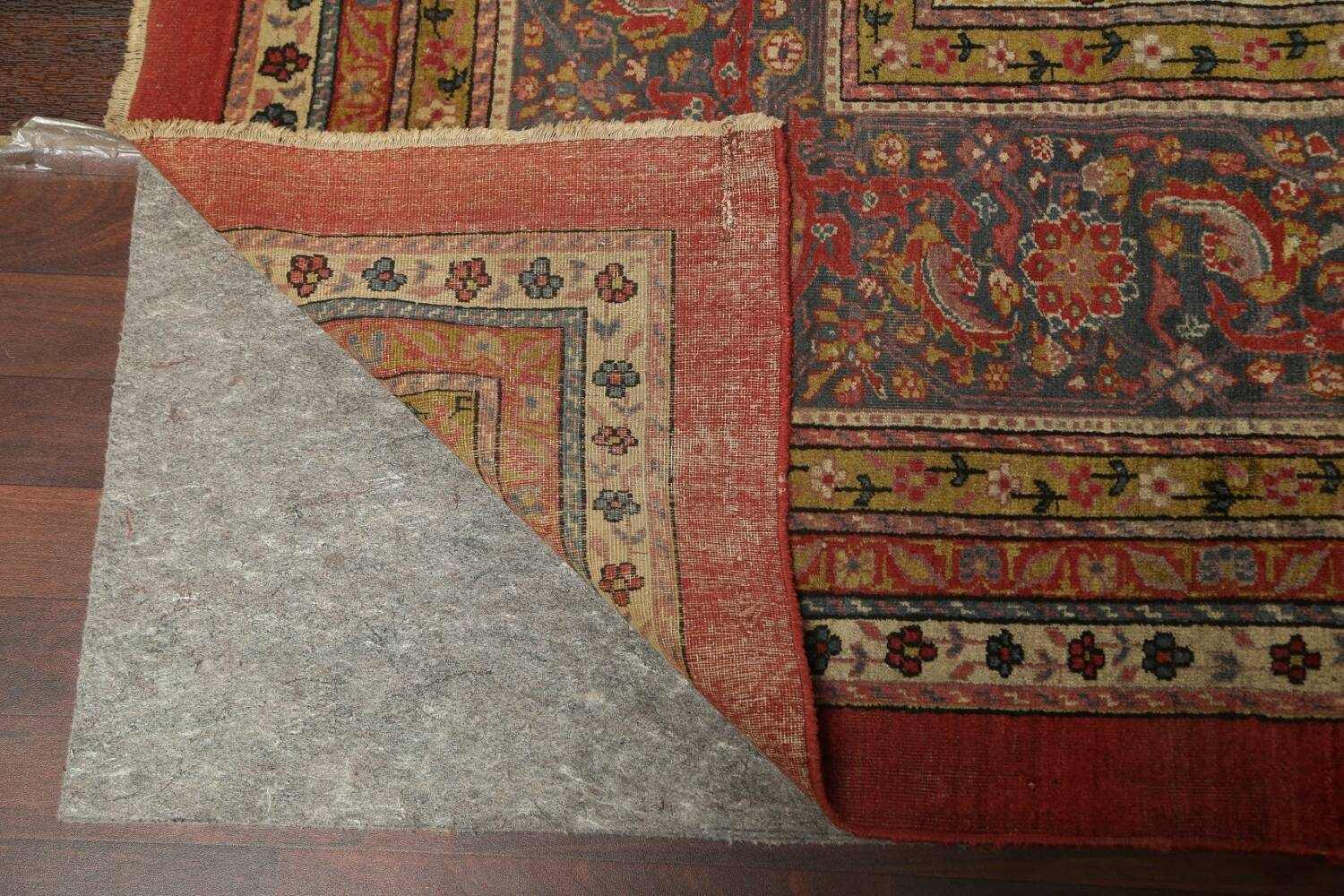 Antique Vegetable Dye Sultanabad Persian Rug 13x20 image 7