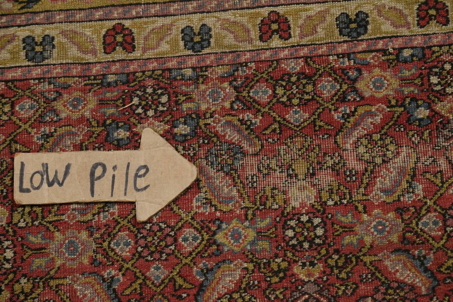 Antique Vegetable Dye Sultanabad Persian Rug 13x20 image 10