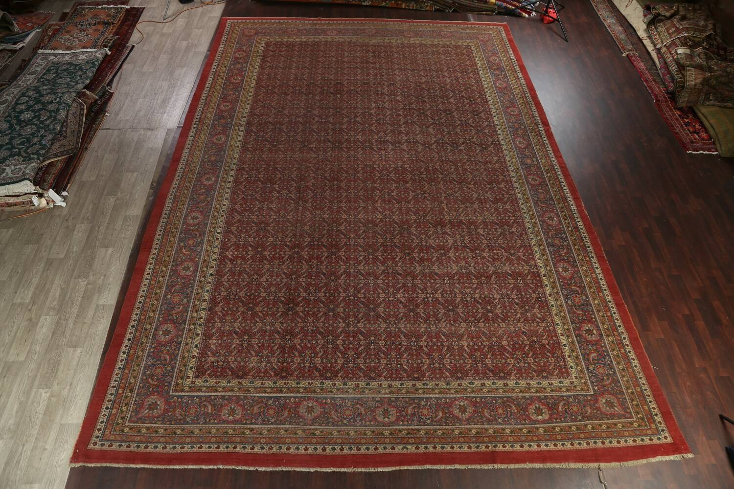 Antique Vegetable Dye Sultanabad Persian Rug 13x20 image 16