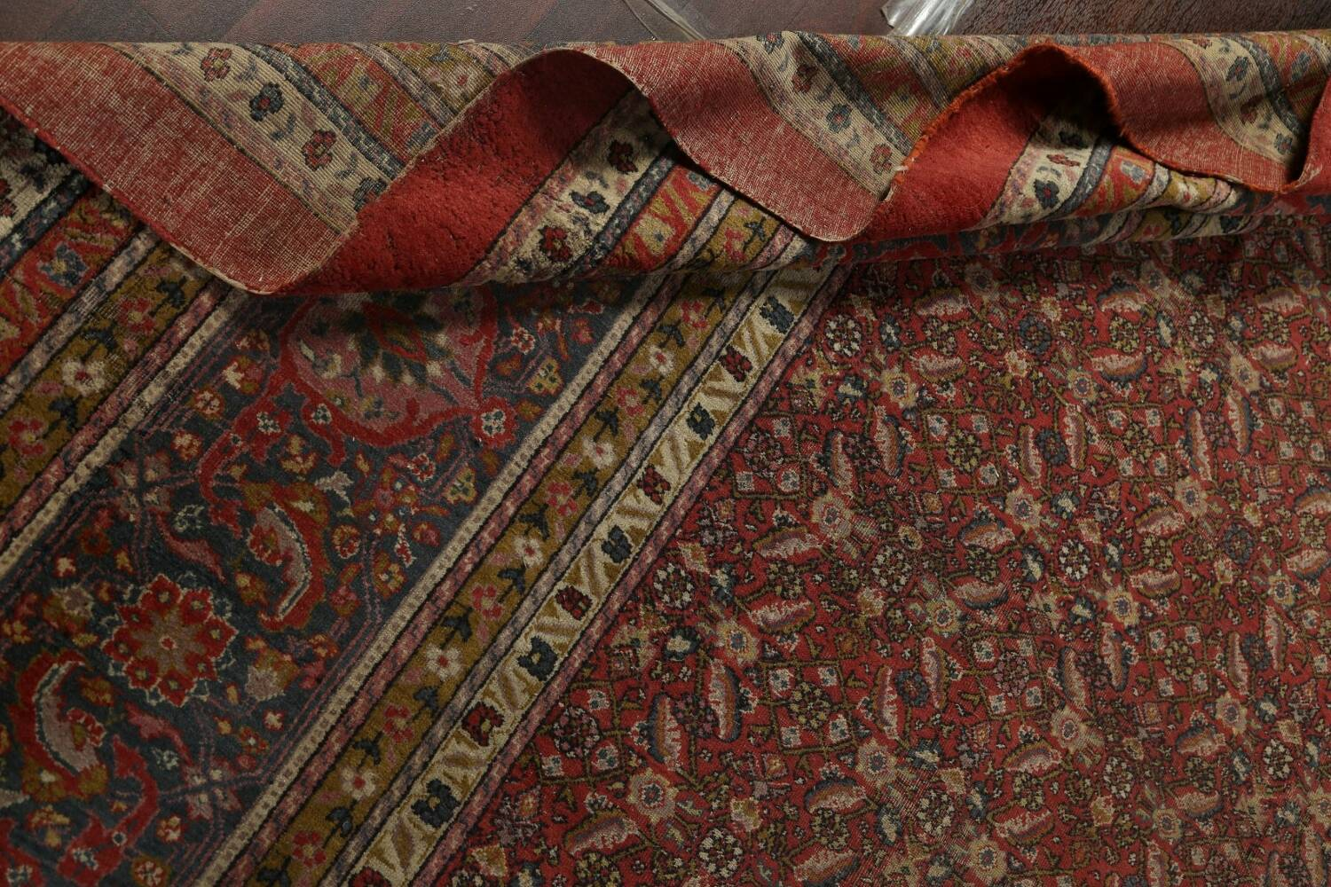 Antique Vegetable Dye Sultanabad Persian Rug 13x20 image 18