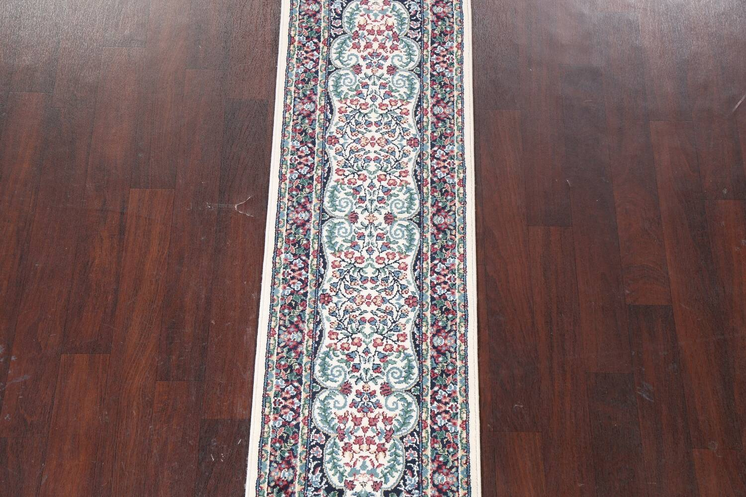 Floral Aubusson Runner Rug 2x8 image 3