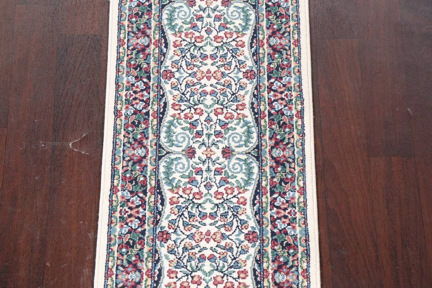 Floral Aubusson Runner Rug 2x8 image 4