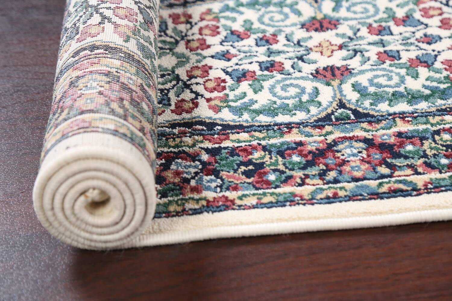 Floral Aubusson Runner Rug 2x8 image 15
