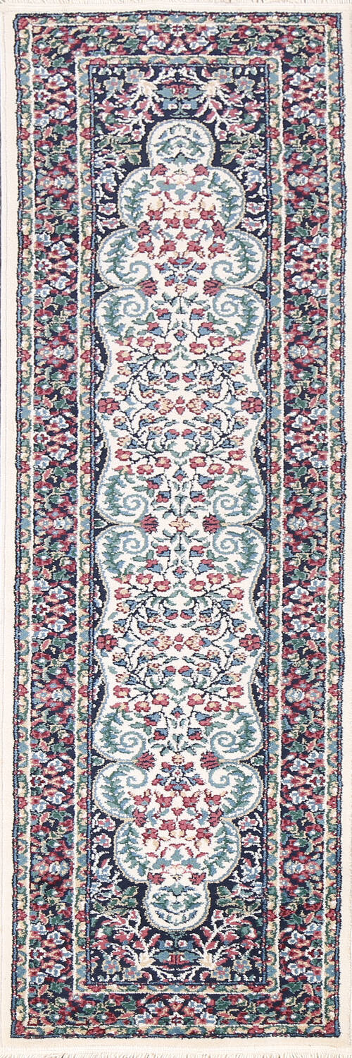 Floral Aubusson Runner Rug 2x8 image 1
