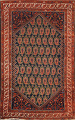 Pre-1900 Antique Vegetable Dye Malayer Persian Rug 5x7 image 1