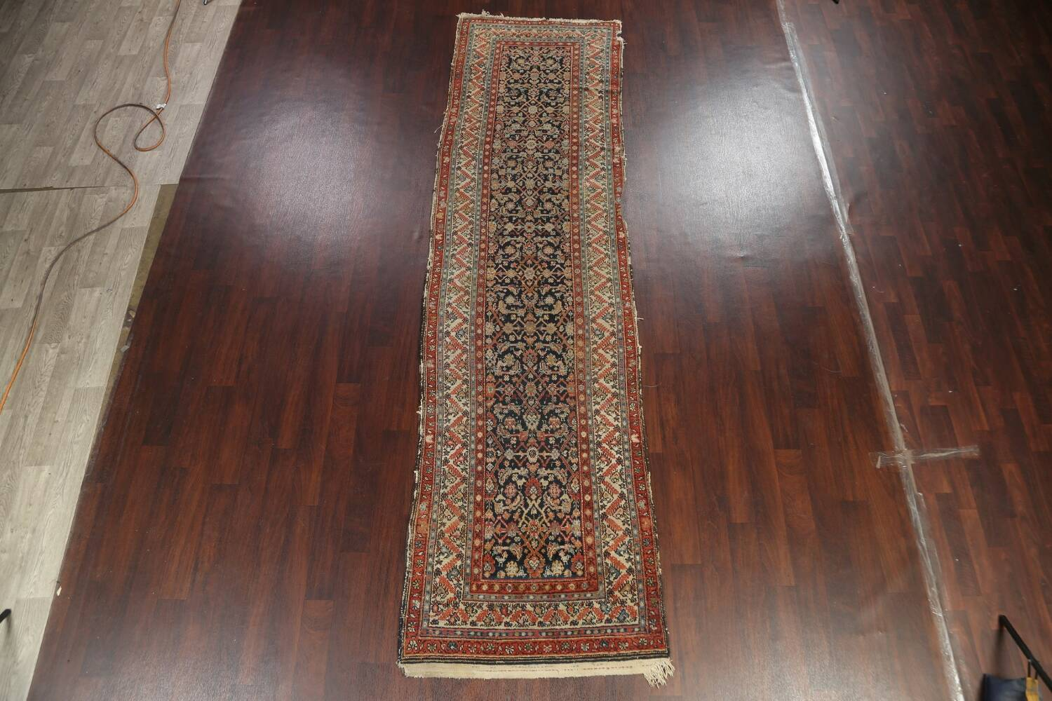 Pre-1900 Antique Vegetable Dye Malayer Persian Rug 3x13 image 2