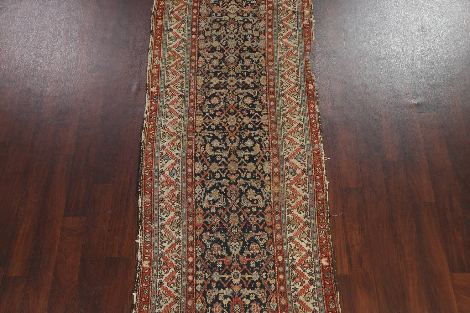 Pre-1900 Antique Vegetable Dye Malayer Persian Rug 3x13 image 3