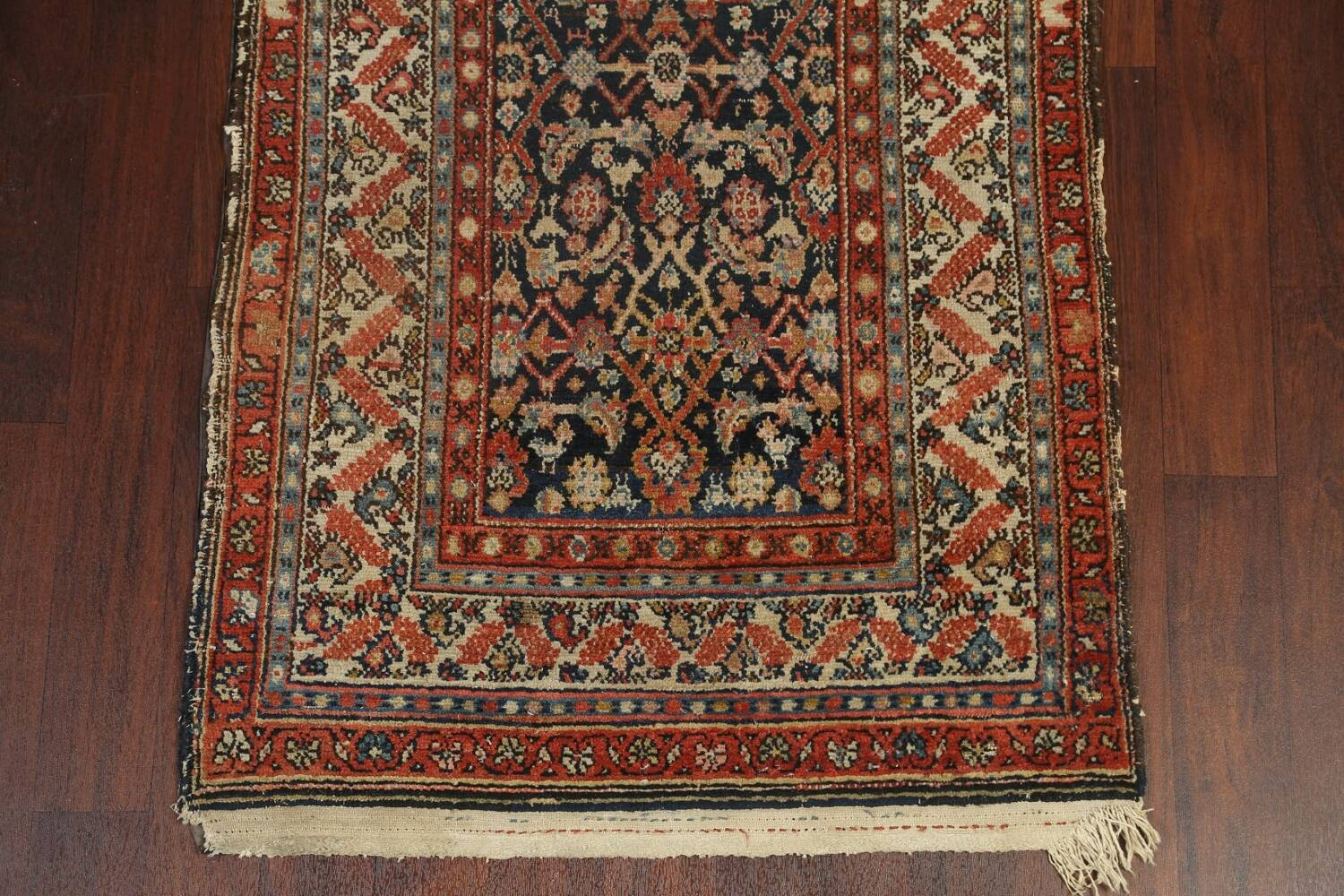 Pre-1900 Antique Vegetable Dye Malayer Persian Rug 3x13 image 5