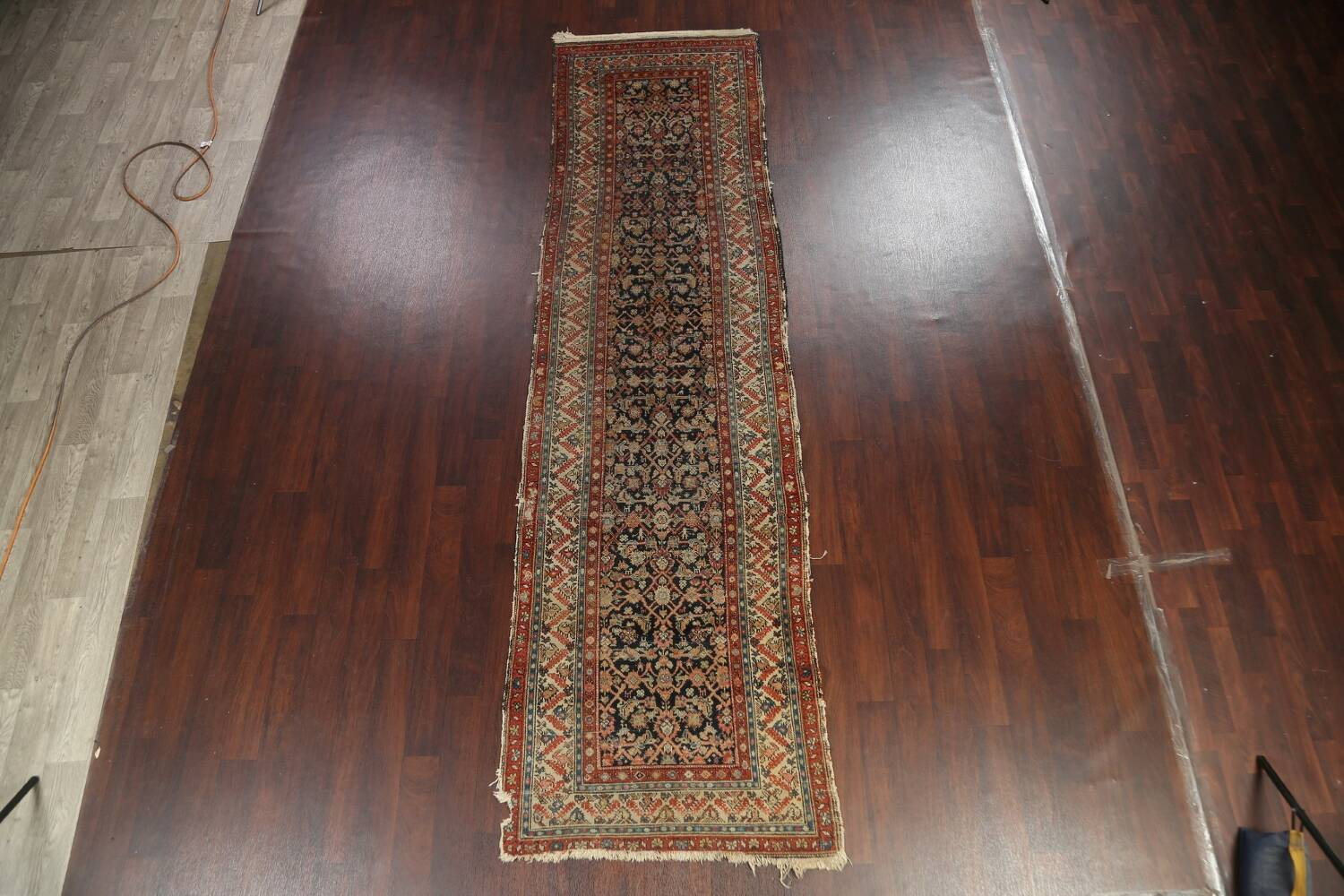 Pre-1900 Antique Vegetable Dye Malayer Persian Rug 3x13 image 15
