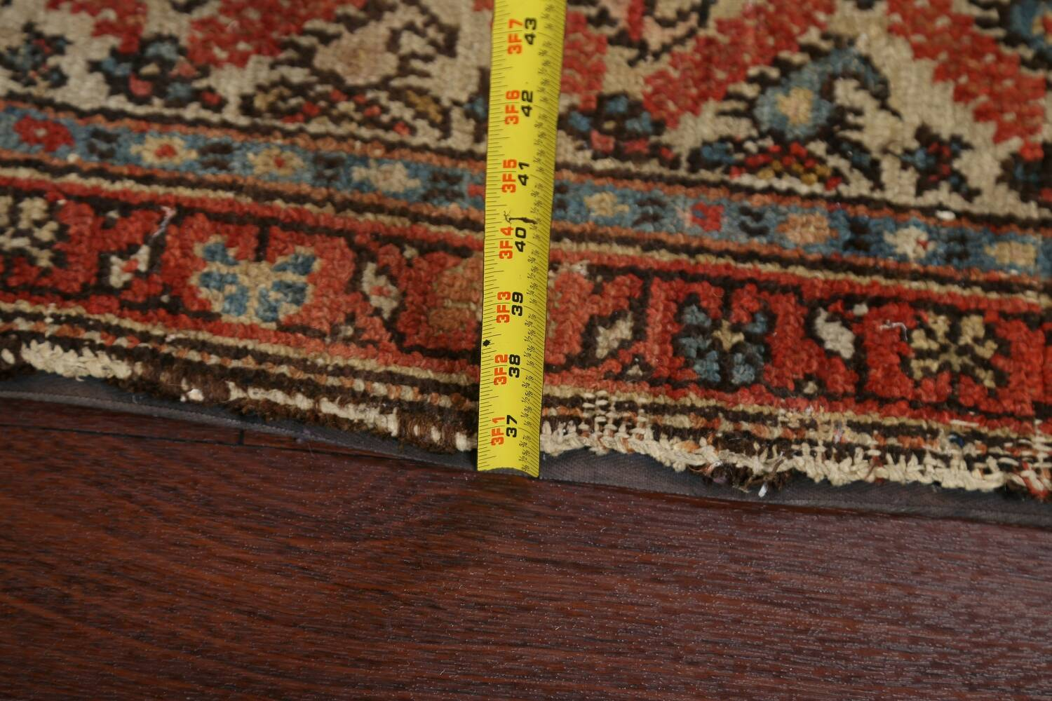 Pre-1900 Antique Vegetable Dye Malayer Persian Rug 3x13 image 18