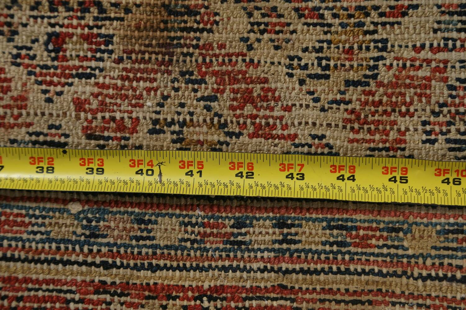 Pre-1900 Antique Vegetable Dye Malayer Persian Rug 3x13 image 19