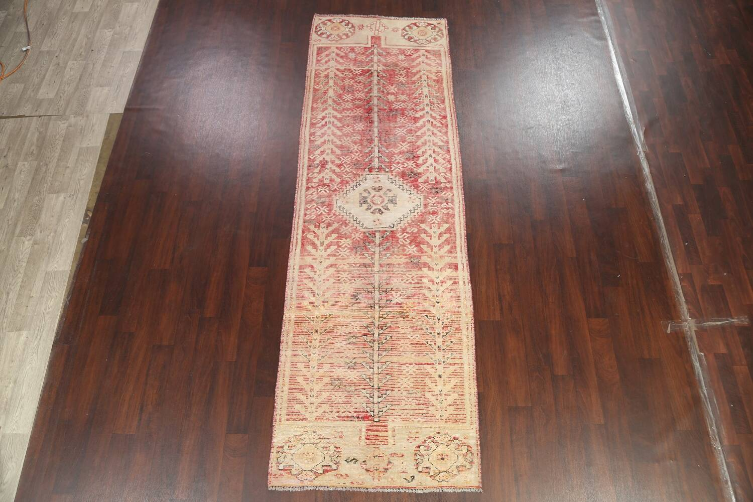 Antique Distressed Malayer Persian Runner Rug 4x12 image 2