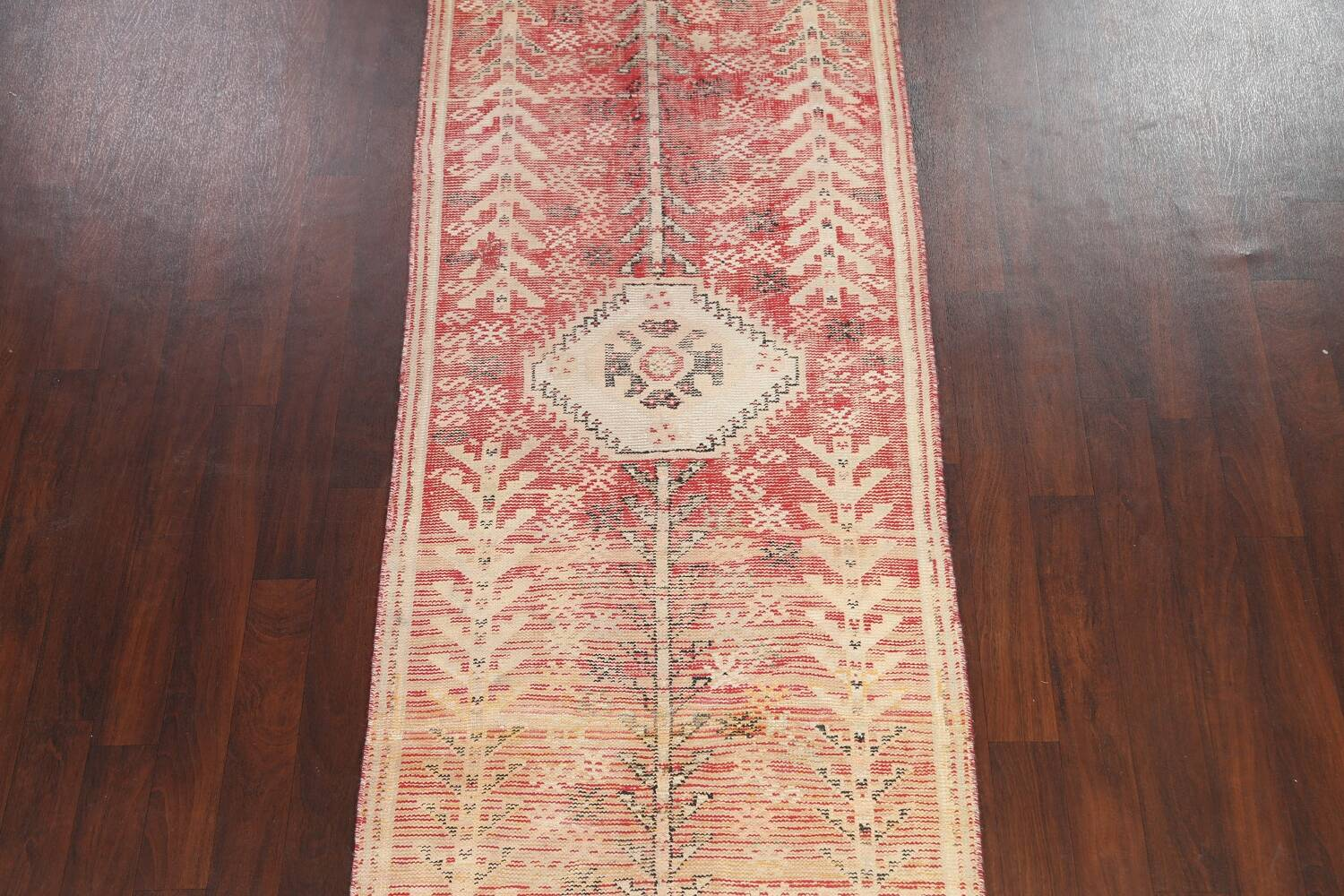 Antique Distressed Malayer Persian Runner Rug 4x12 image 3