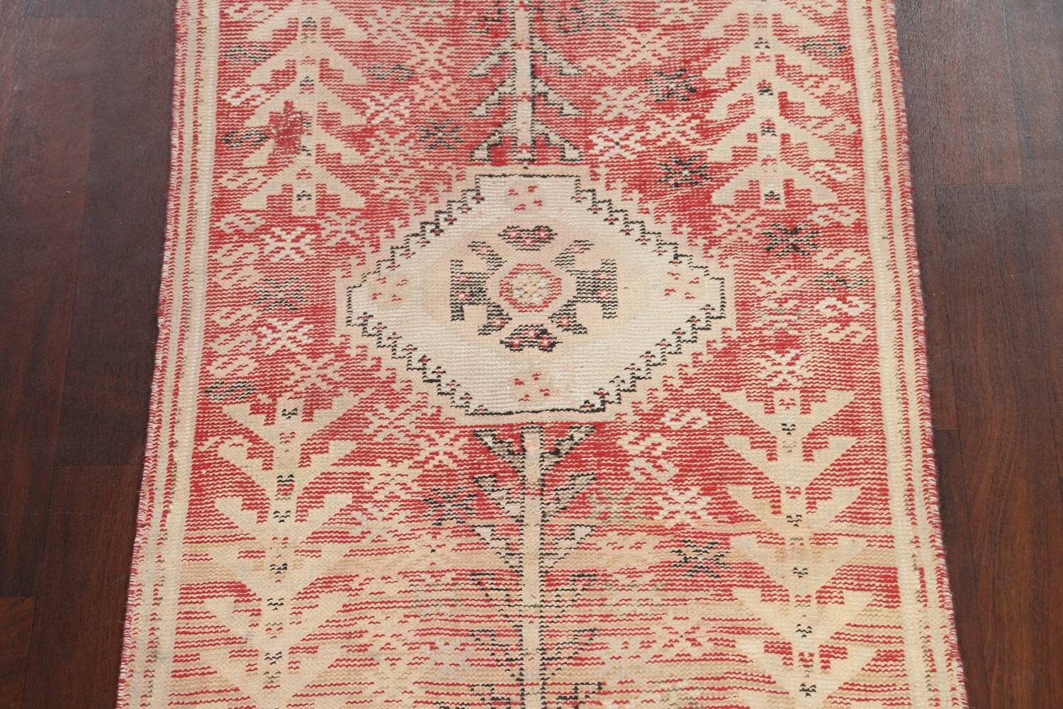 Antique Distressed Malayer Persian Runner Rug 4x12 image 4