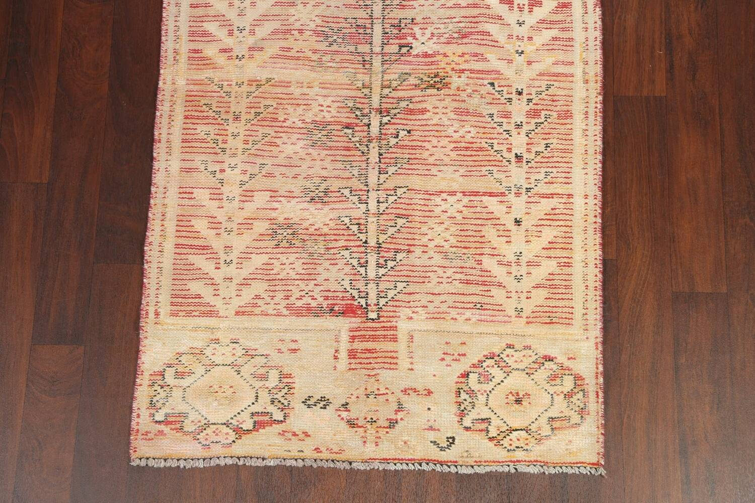 Antique Distressed Malayer Persian Runner Rug 4x12 image 5