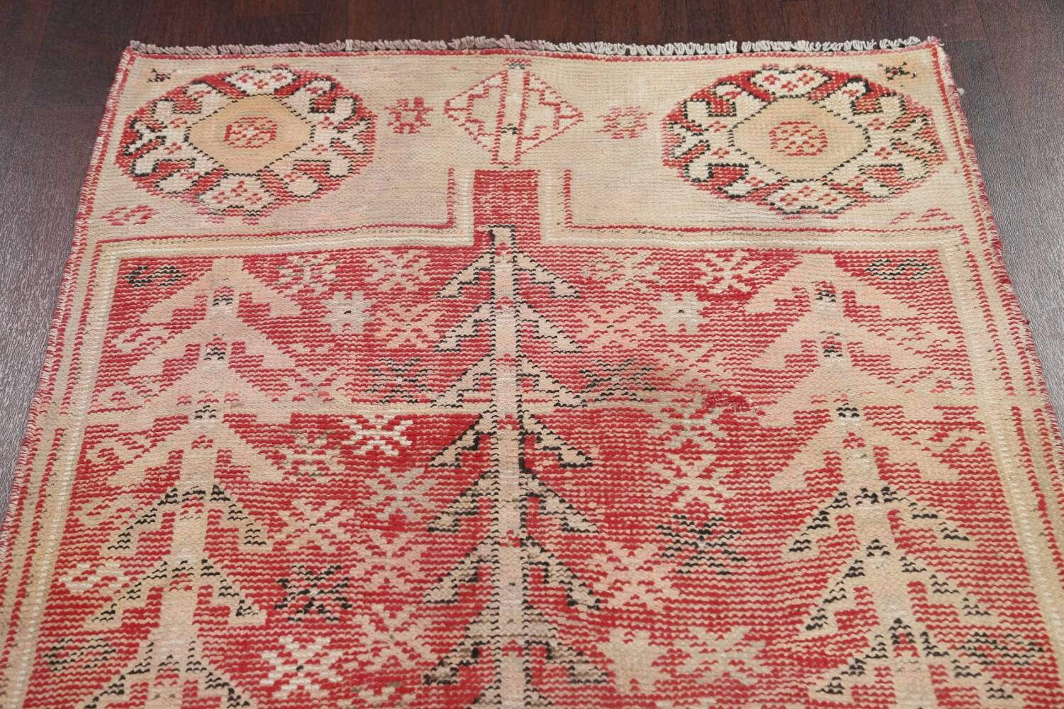 Antique Distressed Malayer Persian Runner Rug 4x12 image 9