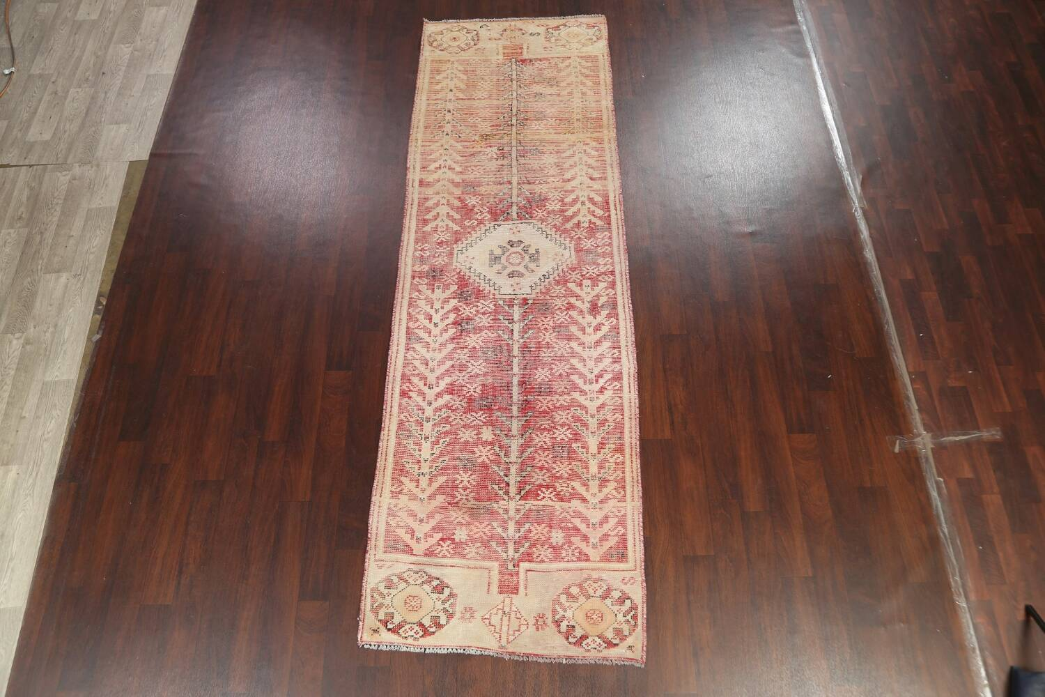 Antique Distressed Malayer Persian Runner Rug 4x12 image 13