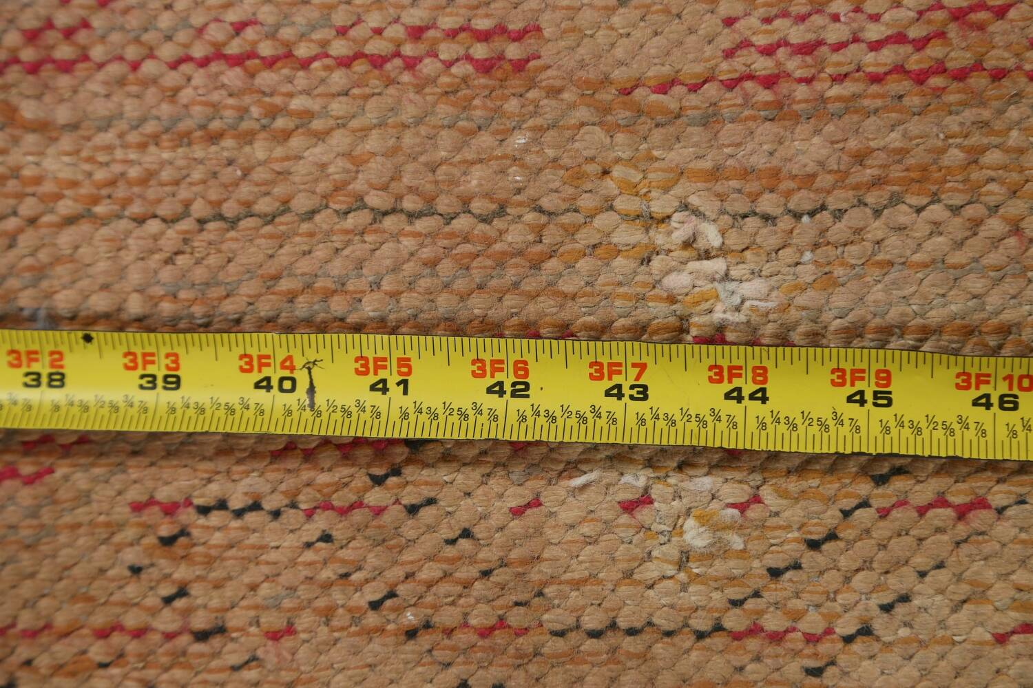 Antique Distressed Malayer Persian Runner Rug 4x12 image 17
