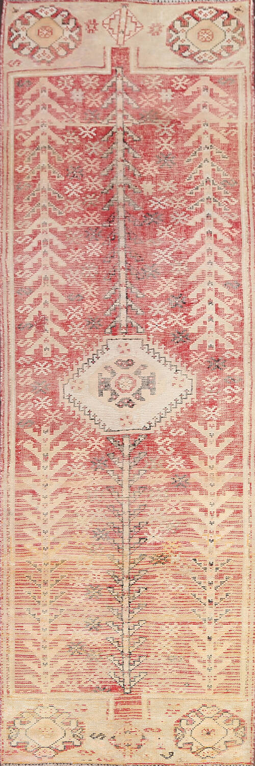 Antique Distressed Malayer Persian Runner Rug 4x12 image 1