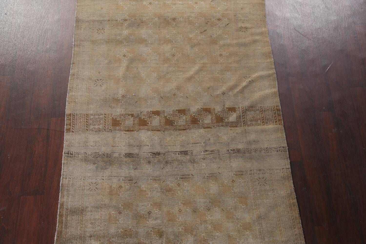 Antique Distressed Balouch Persian Wool Rug 4x8 image 3