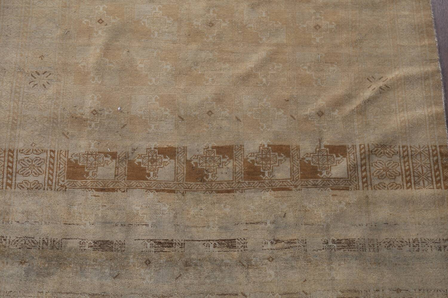 Antique Distressed Balouch Persian Wool Rug 4x8 image 4