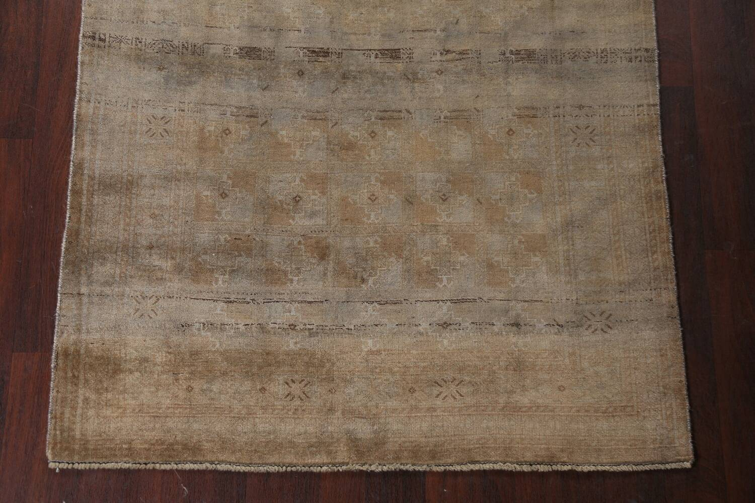 Antique Distressed Balouch Persian Wool Rug 4x8 image 5