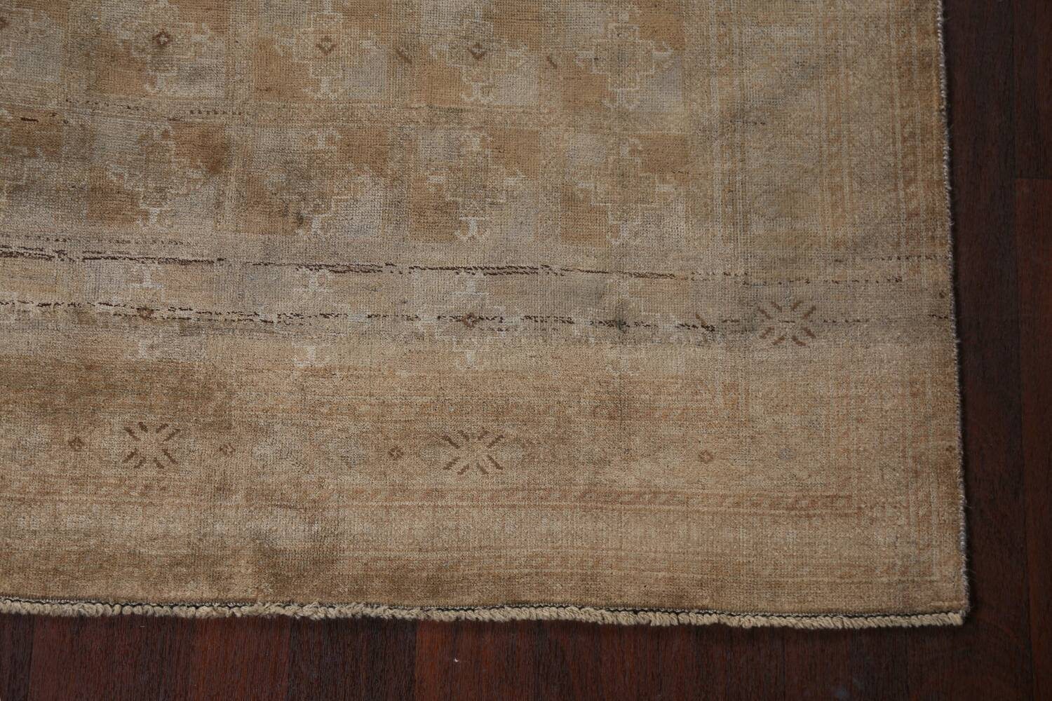 Antique Distressed Balouch Persian Wool Rug 4x8 image 6