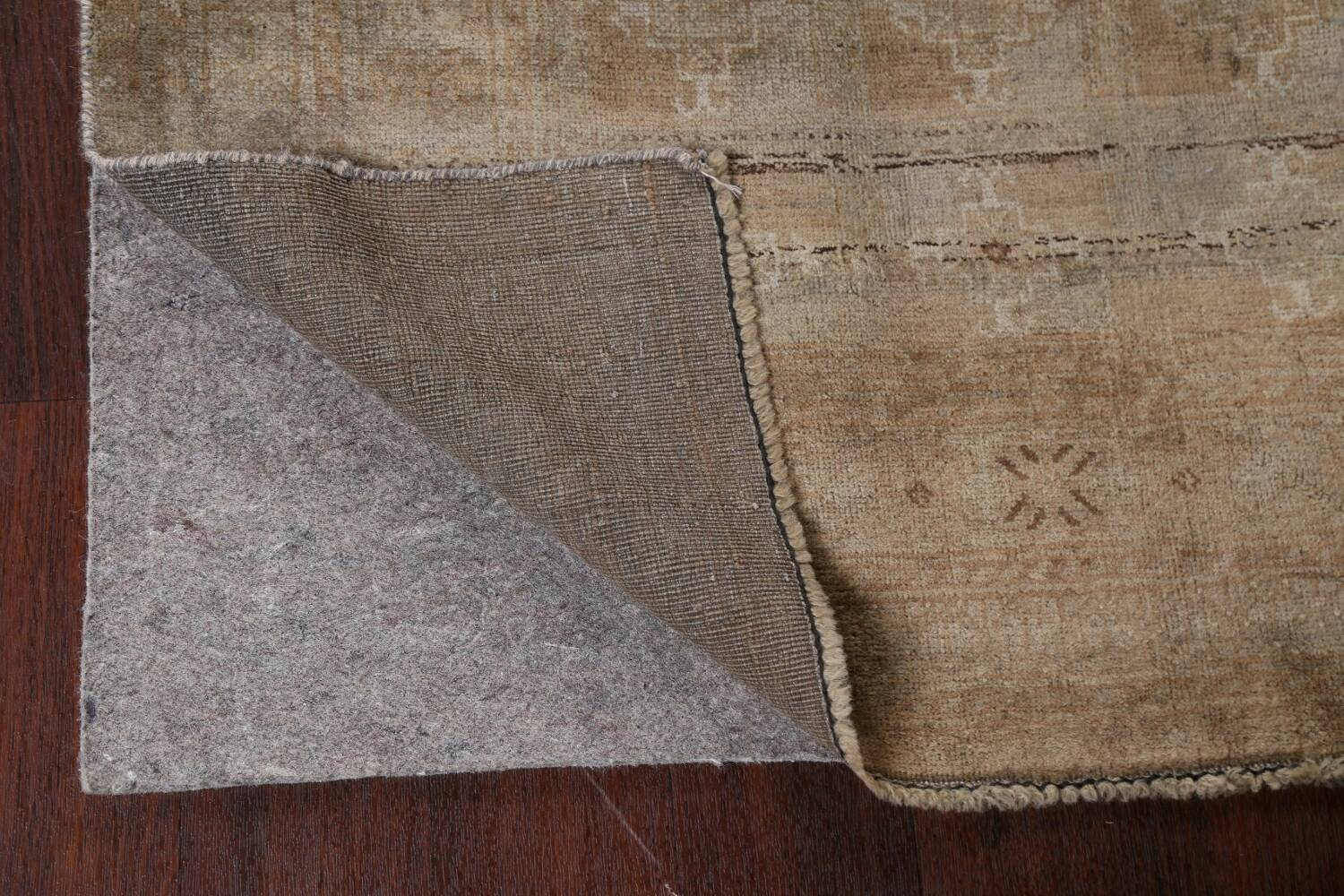 Antique Distressed Balouch Persian Wool Rug 4x8 image 7