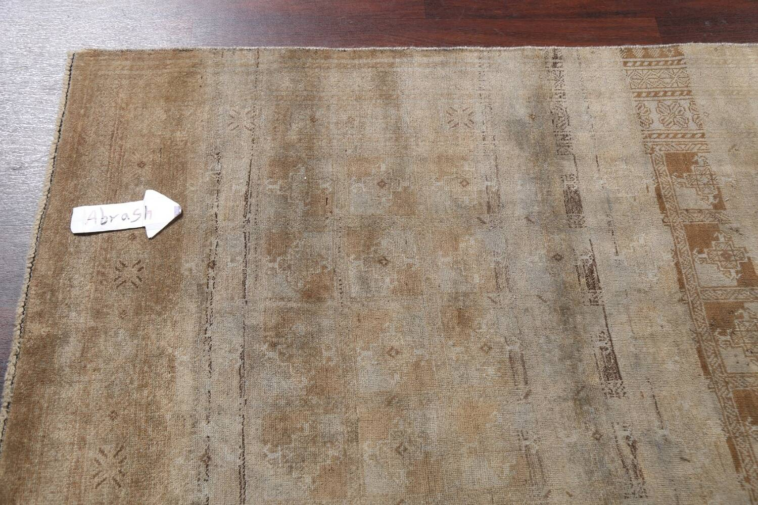 Antique Distressed Balouch Persian Wool Rug 4x8 image 11