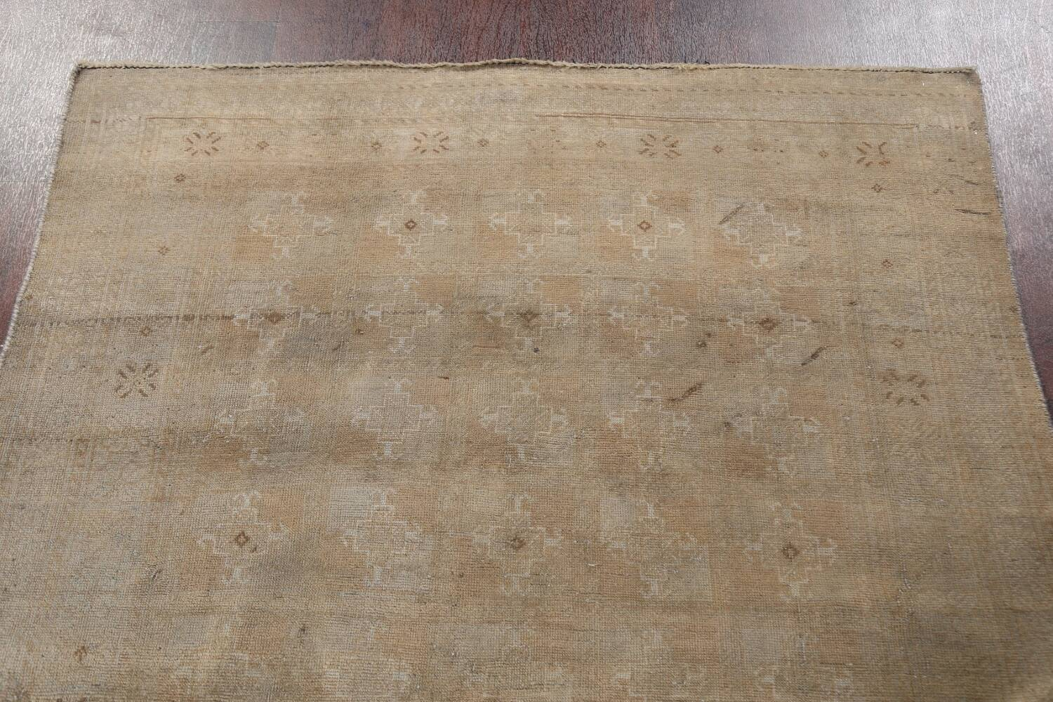 Antique Distressed Balouch Persian Wool Rug 4x8 image 13