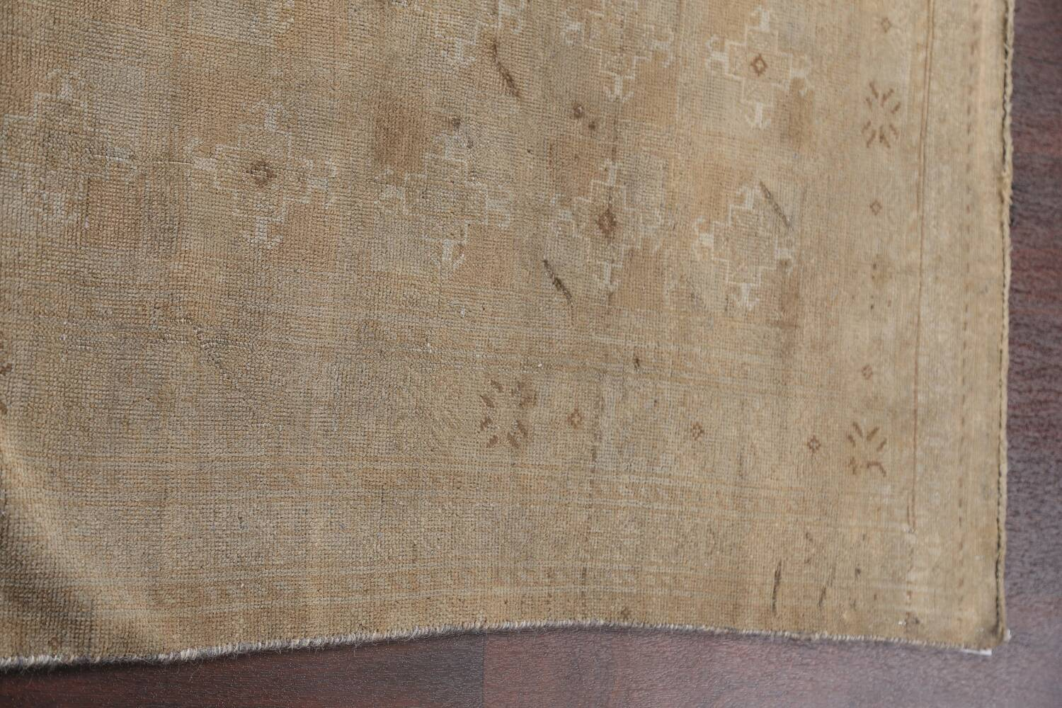 Antique Distressed Balouch Persian Wool Rug 4x8 image 14