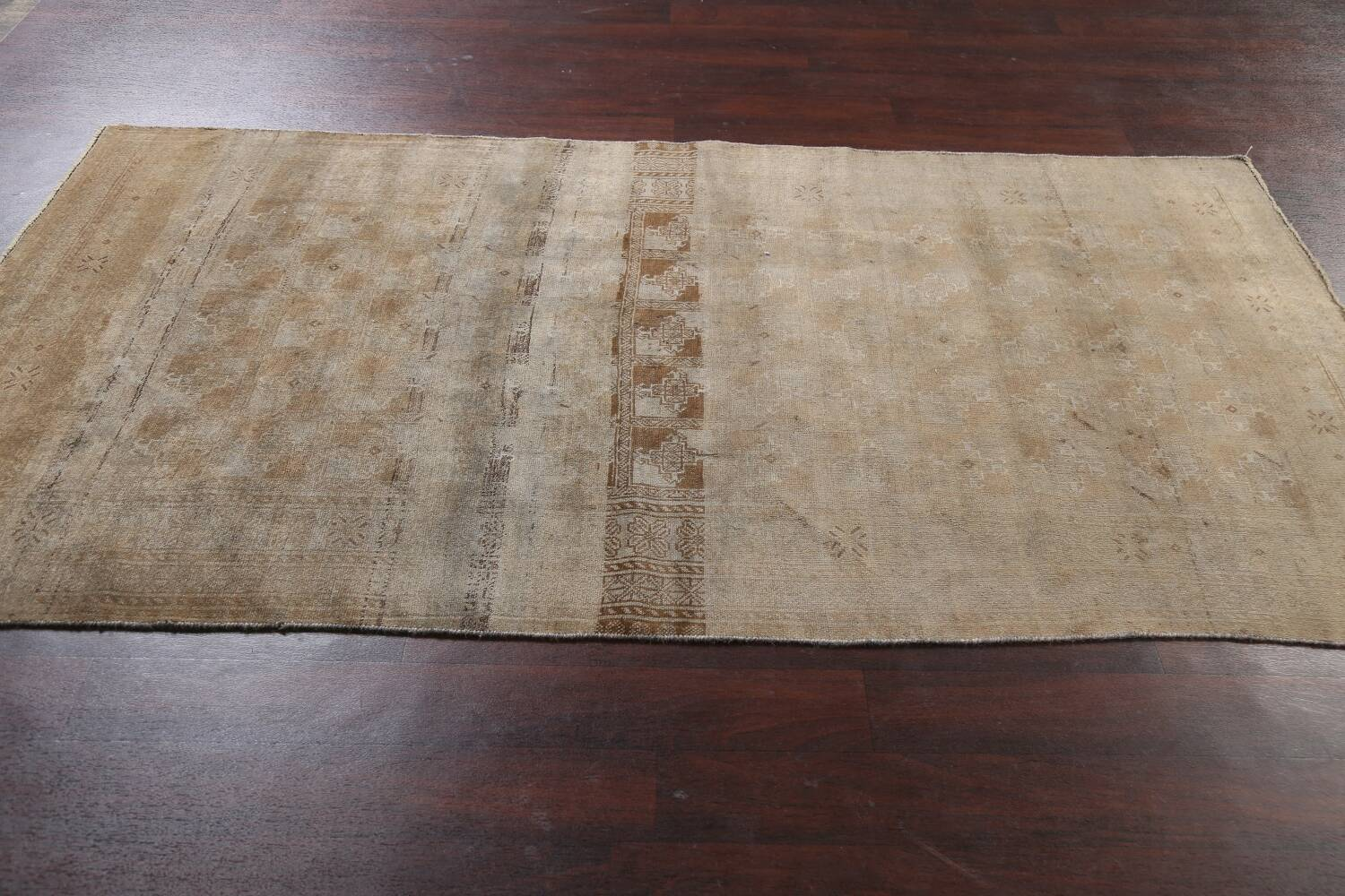 Antique Distressed Balouch Persian Wool Rug 4x8 image 15
