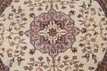 Hand-Knotted Kashan Round Area Rug 7x7 image 4