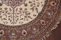 Hand-Knotted Kashan Round Area Rug 7x7 image 6