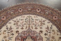 Hand-Knotted Kashan Round Area Rug 7x7 image 9