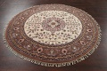 Hand-Knotted Kashan Round Area Rug 7x7 image 10