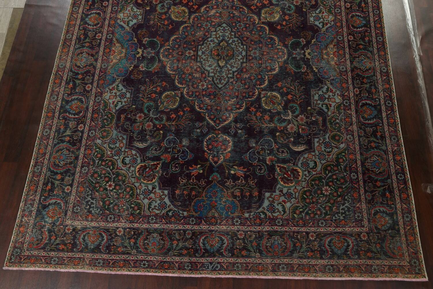 Over-Dyed Tabriz Persian Area Rug 10x13 image 5