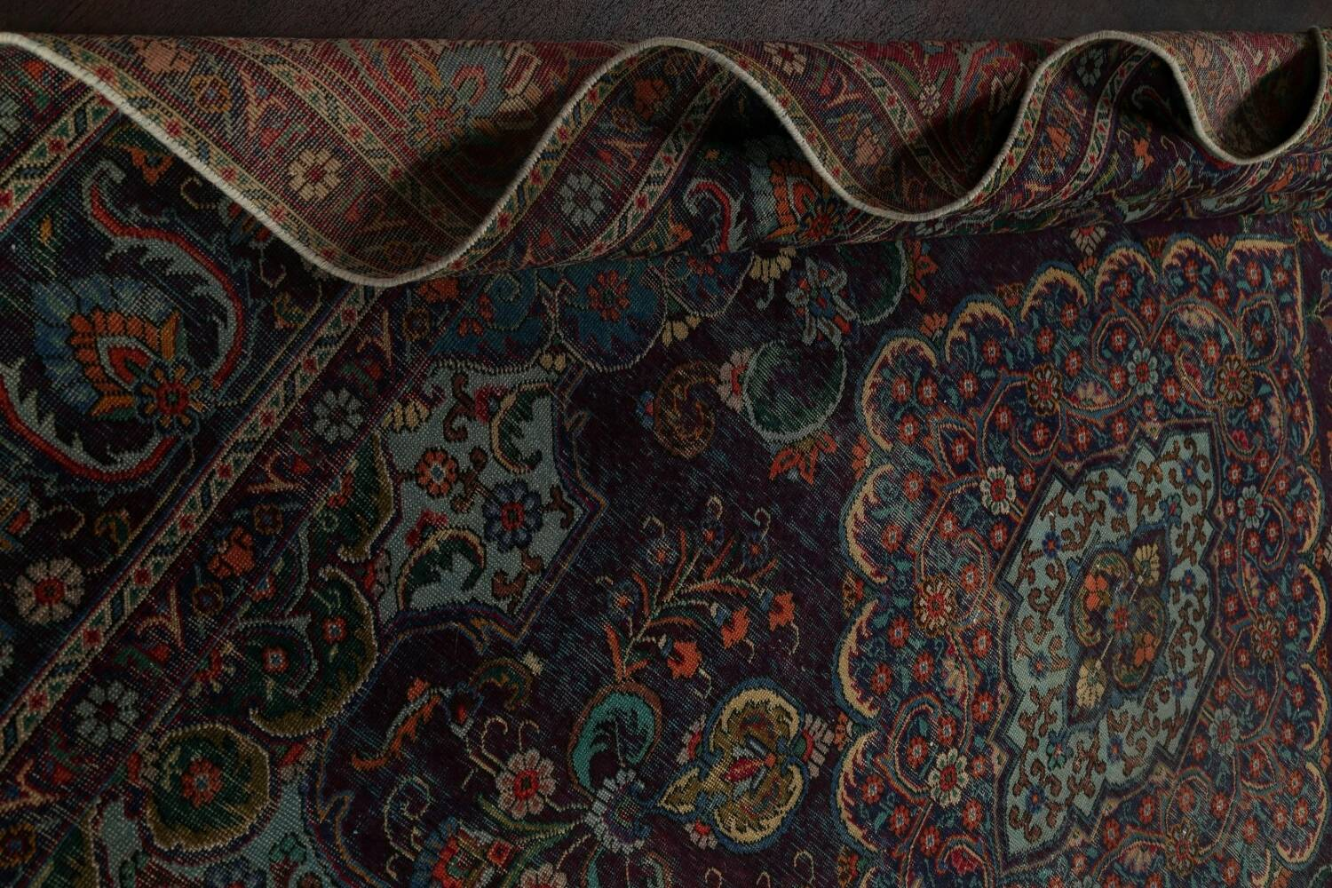 Over-Dyed Tabriz Persian Area Rug 10x13 image 15