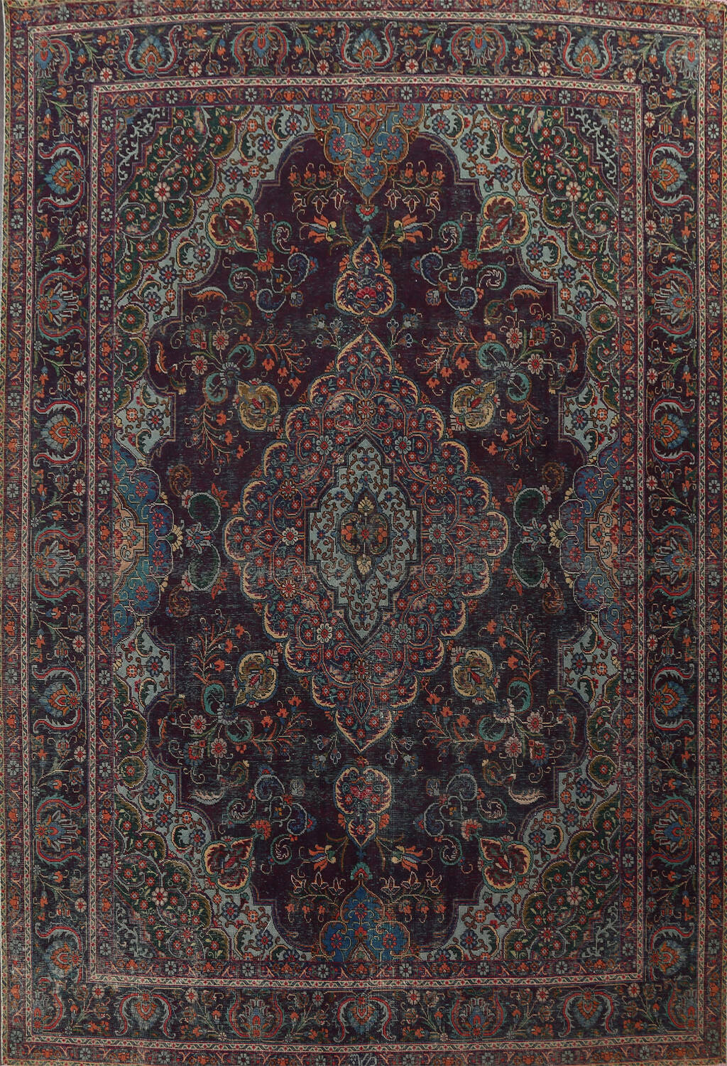 Over-Dyed Tabriz Persian Area Rug 10x13 image 1