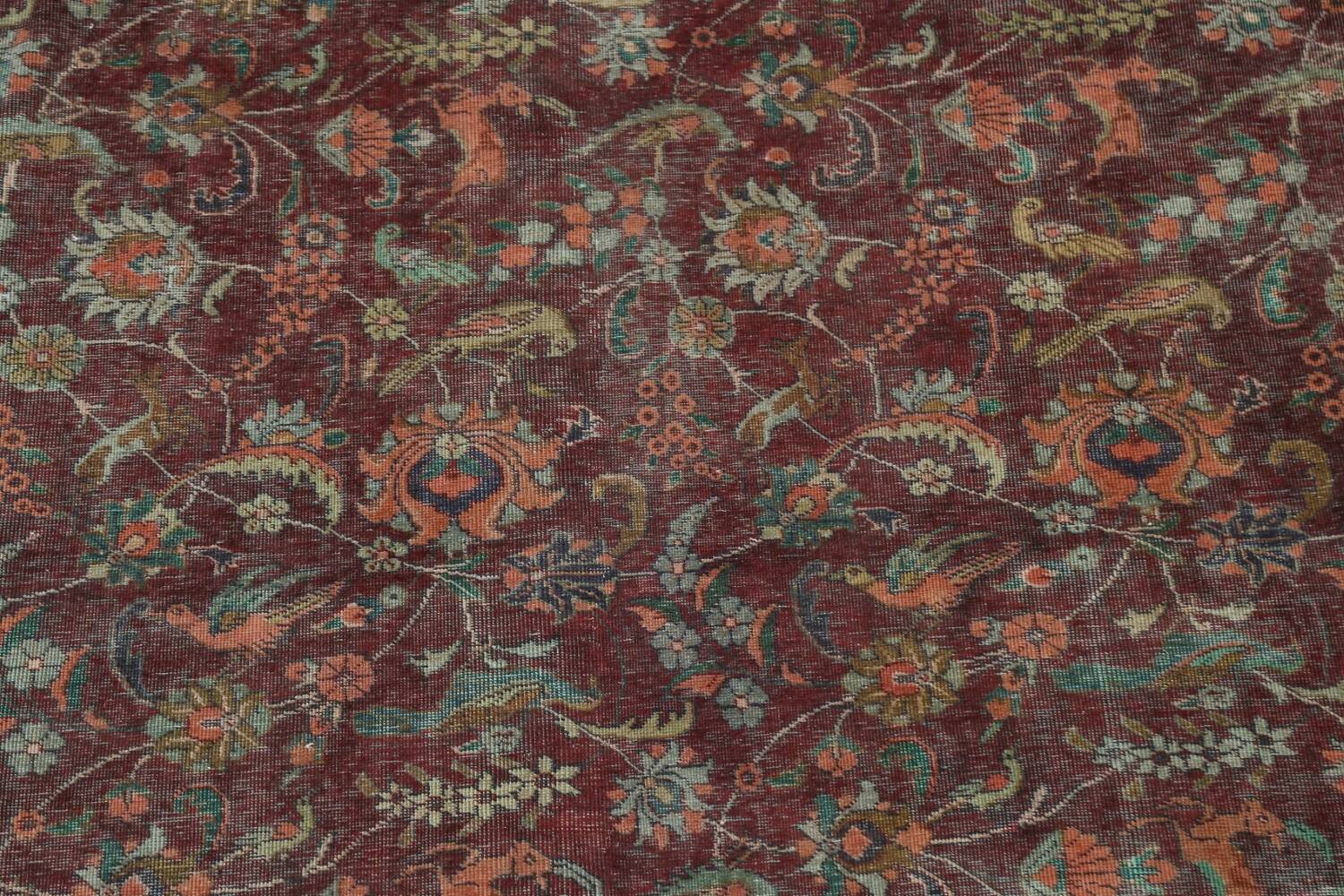 Over-Dyed Tabriz Persian Area Rug 10x13 image 4
