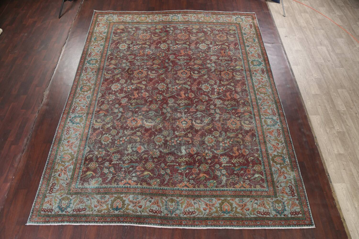 Over-Dyed Tabriz Persian Area Rug 10x13 image 16