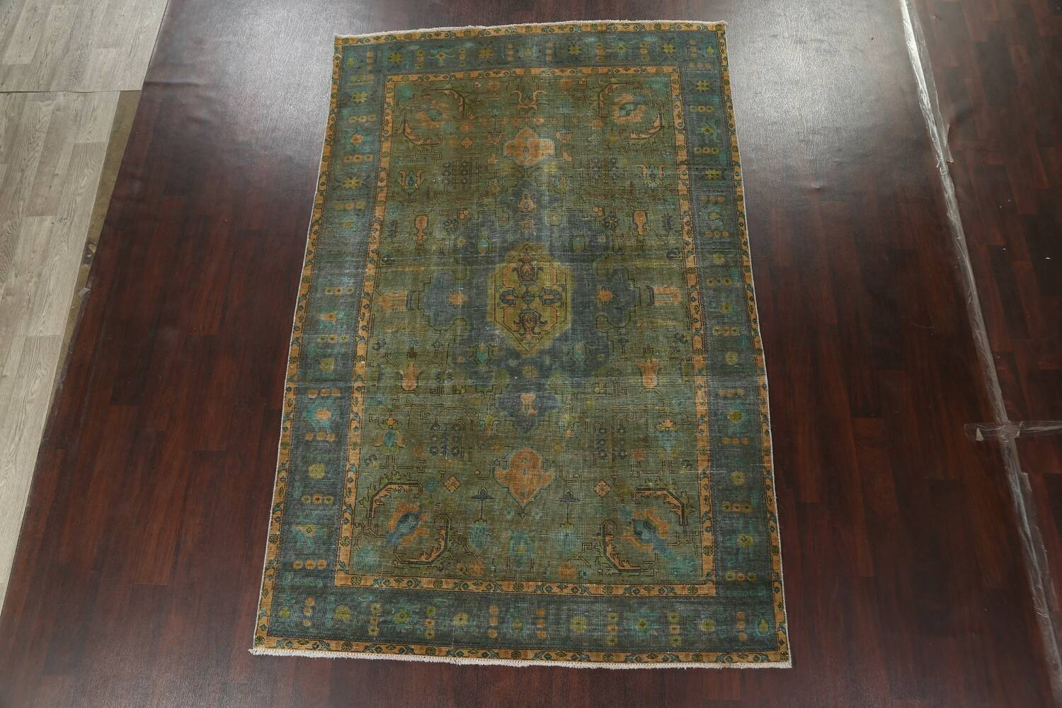 Antique Over-Dyed Tabriz Persian Area Rug 6x10 image 3