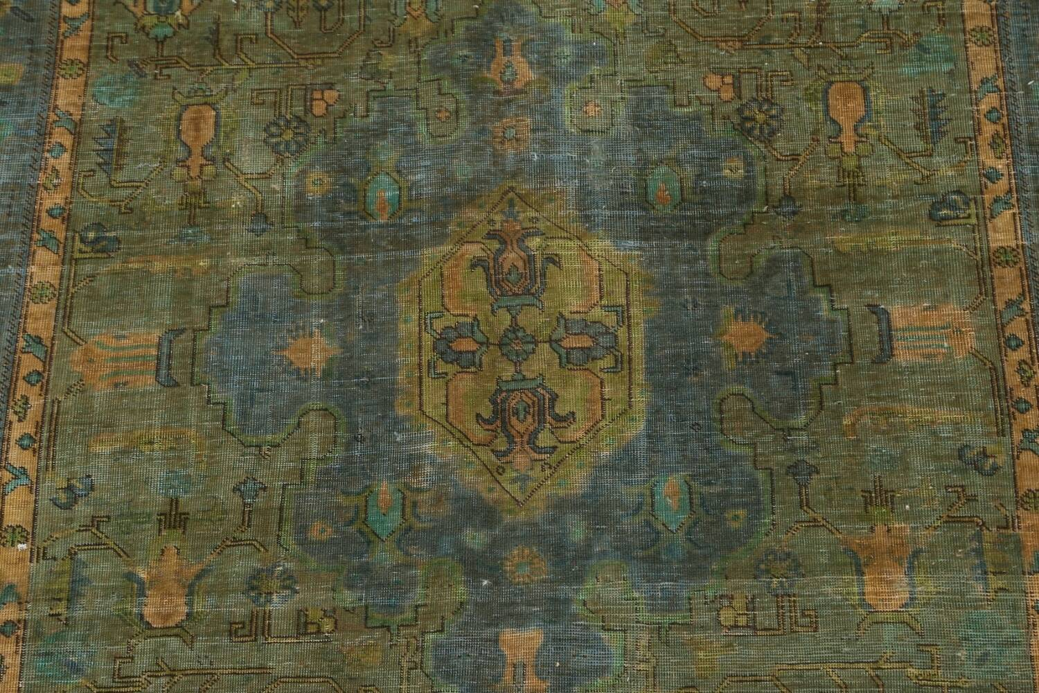 Antique Over-Dyed Tabriz Persian Area Rug 6x10 image 5