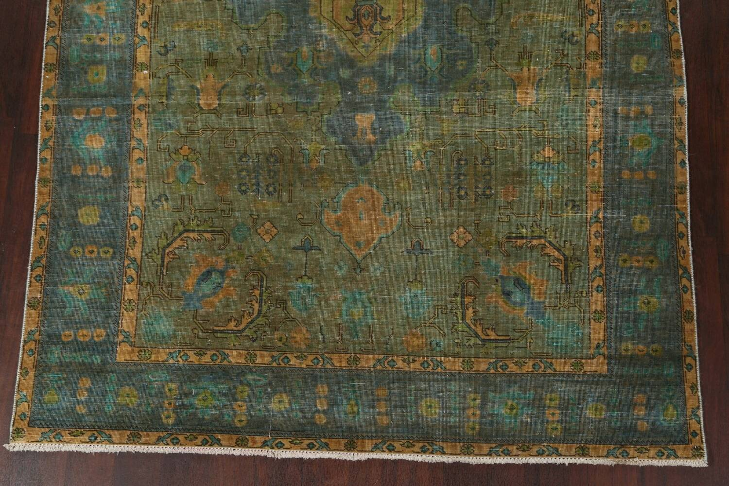 Antique Over-Dyed Tabriz Persian Area Rug 6x10 image 6