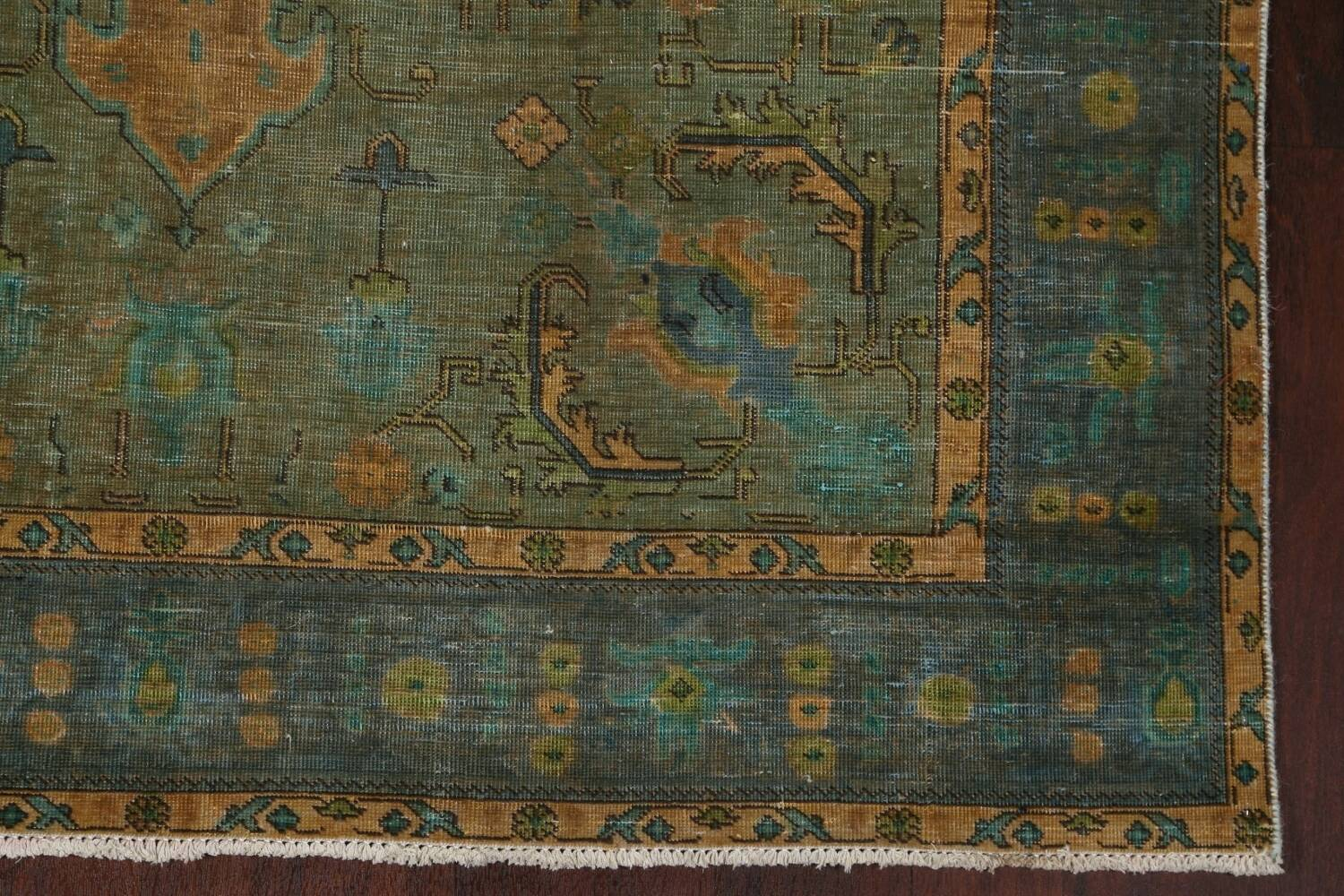 Antique Over-Dyed Tabriz Persian Area Rug 6x10 image 7